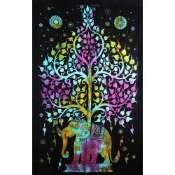 Orientální bavlněný přehoz - Elephant Tree