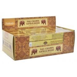Vonné tyčinky -Nag ChampaSANDALWOOD (Sada 12 krabiček)