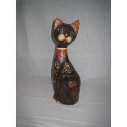 Kočka sedící bokem 40cm