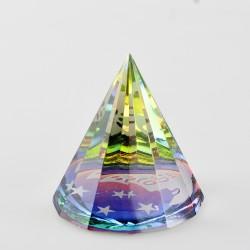 Těžítko, křišťálová pyramida 6cm-Slunce