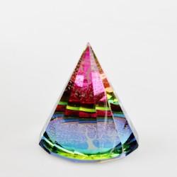 Těžítko, křišťálová pyramida 5cm-Strom život