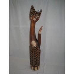 Kočka černý puntík 80 cm
