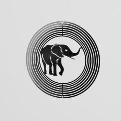 Kovové spirála s Slon-15cm