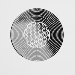 Kovové spirála - Květem Života-15cm