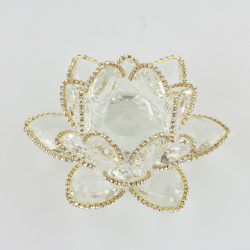 Křišťálový květ lotos 12cm- čira