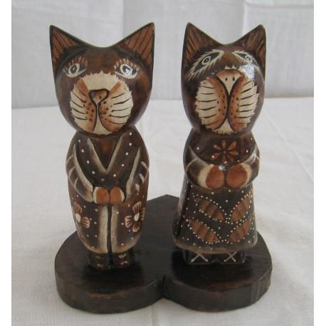Zamilované kočky na srdci 17cm
