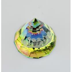 Těžítko, křišťálová pyramida 6cm-mandarinka kachna