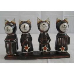 Kočky s hudebními nástroji 13cm