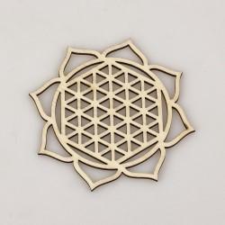 Dřevěné podšálky-Mandala (sada 6ks)
