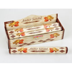 Vonné tyčinky - AMBER SANDAL (Sada 6 krabiček)