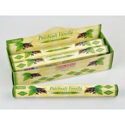 Vonné tyčinky - PATCHOULI VANILLA  (Sada 6 krabiček)