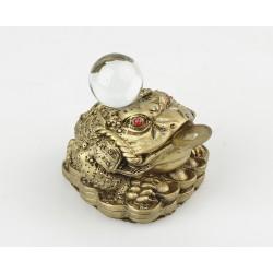 Třínohá žába s čínskou mincí - MALÁ