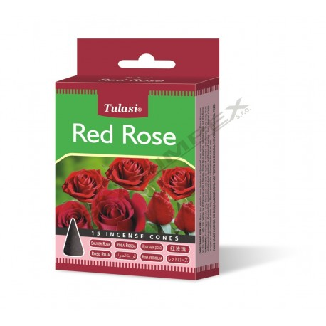 Vonné františky Tulasi RED ROSE (Sada 12 krabiček)