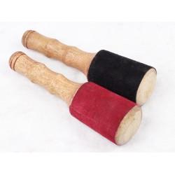 Dřevené  paličký na tibetské míský  s Suede