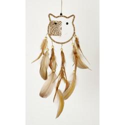 Lapač snů Bežová Kočka -10cm