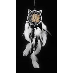 Lapač Snů - Bílý Kočka -10cm