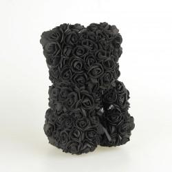 Medvídek z růží - Černý  25 cm