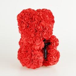 Medvídek z růží - Červený  25 cm
