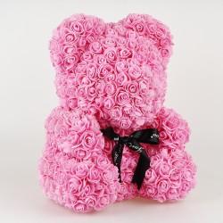 Medvídek z růží - Ružový 35 cm