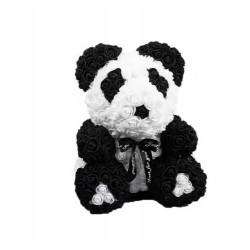 Medvídek z růží - Panda 25 cm