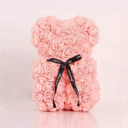 Medvídek z růží - světle oranžová 35 cm