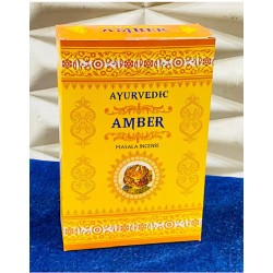 Vonné tyčinky Ayurvedic - AMBER (Sada 12 krabiček)