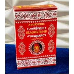Vonné tyčinky Ayurvedic - DRAGON BLOOD  (Sada 12 krabiček)