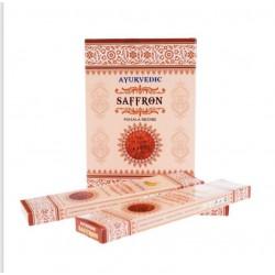 Vonné tyčinky Ayurvedic - SAFFRON (Sada 12 krabiček)