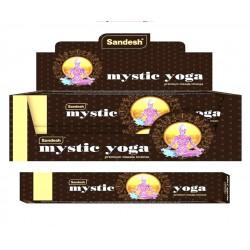 Vonné tyčinky Sandesh - MYSTIC YOGA  (Sada 12 krabiček)