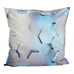 3D povlak na polštář s motivem Geometric Blue