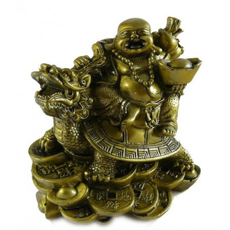 Buddha na želvě s dračí hlavou - velký