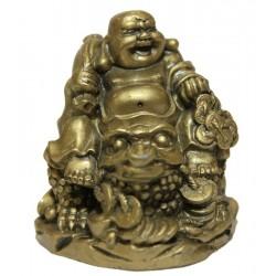 Buddha2 s pytlem mincí na žábě hojnosti
