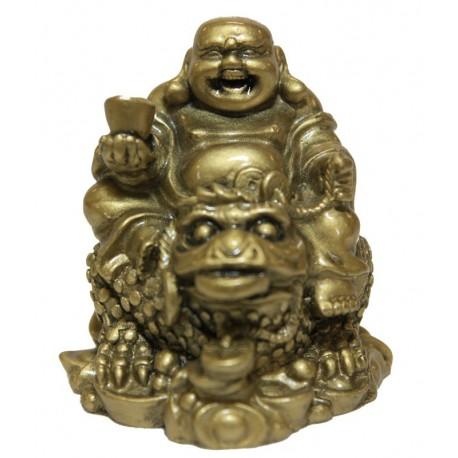 Buddha s ingotem na žábě hojnosti