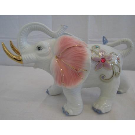 Slon 21cm - růžový