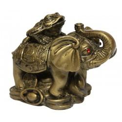 Slon se žábou na zádech a mincemi VELKÝ