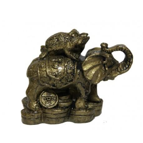 Slon se žábou na zádech a mincemi MALÝ