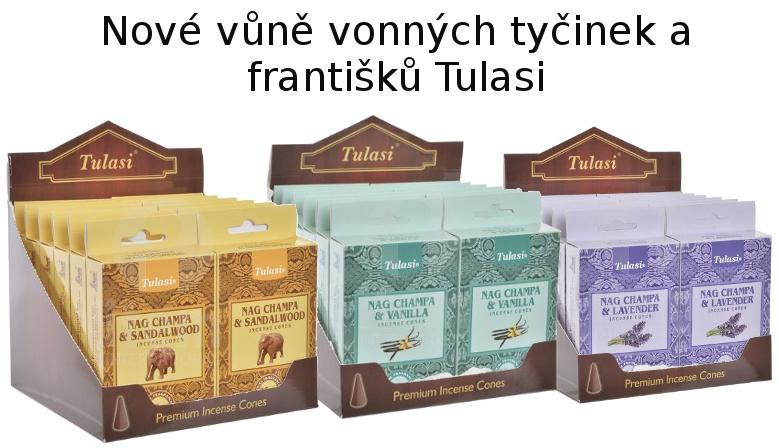 Nové vůně tyčinek a františků Tulasi
